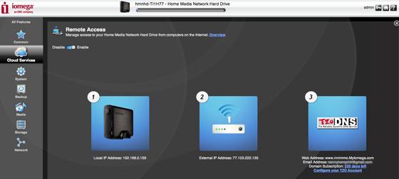 Iomega Home Media Network Hard Drive Cloud Edition 1TB