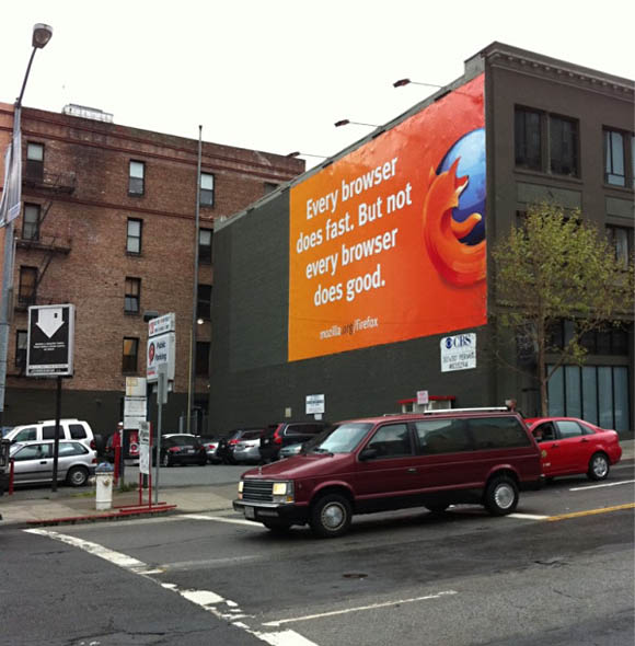 Firefox billboard