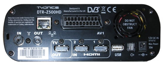 TVOnics DTR-Z500HD