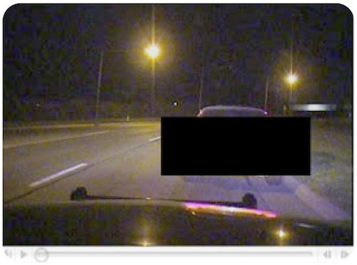Screen capture of image lifted from police cruiser DVR