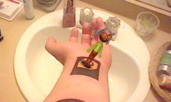 Nintendo 3DS AR Card Tattoo