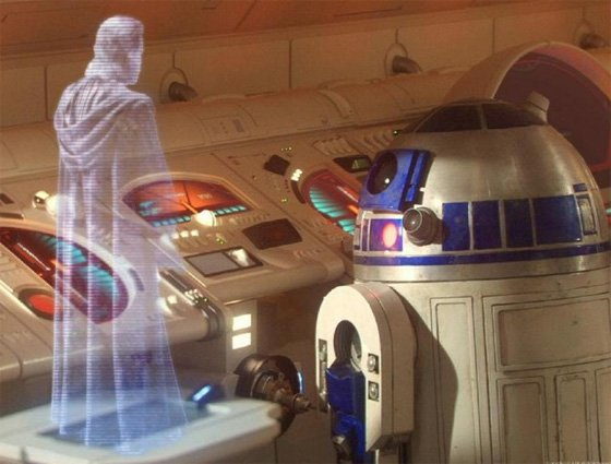 Hologram communication - Star Wars