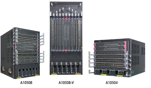 HP A10500 campus core switches