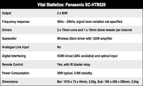 Panasonic SC-HTB520