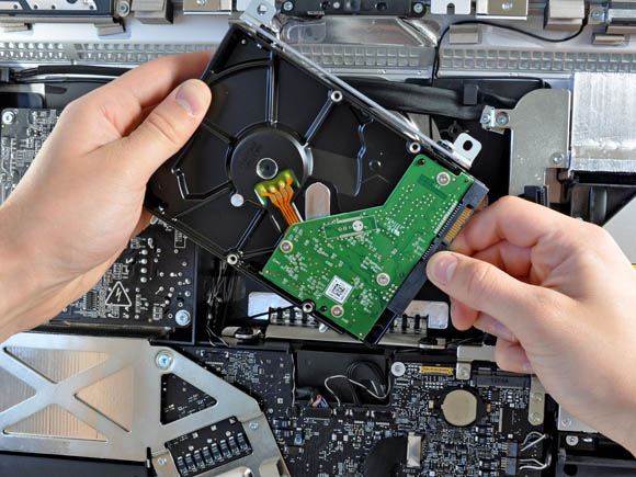 Hard drive in the early-20111 Apple iMac (source: iFixit)