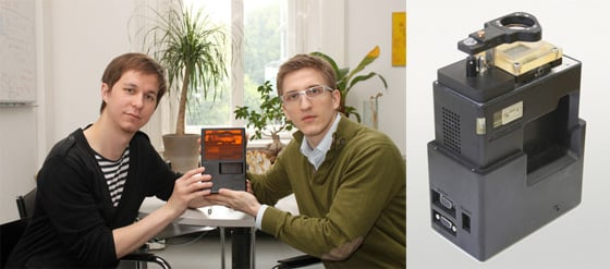 Markus Hatzenbichler, Klaus Stadlmann and their 3D printer