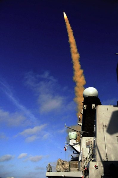 HMS Daring fires Sea Viper for the first time. Credit: MBDA