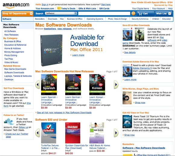 Amazon Mac-software store