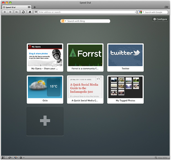 Opera Speed Dial extensions