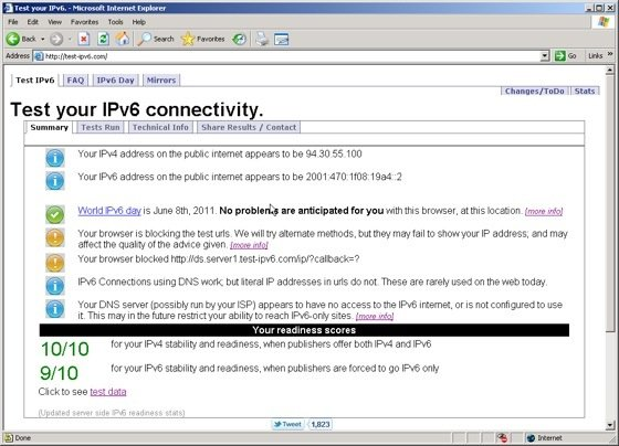 Step 3d Test IPv6