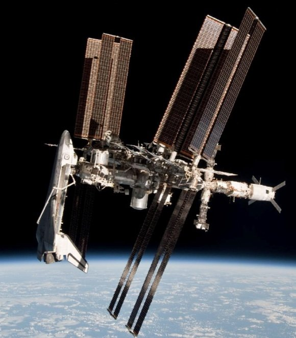 Shuttle Endeavour docked with the ISS. Credit: NASA