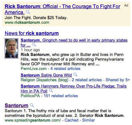 Google Santorum