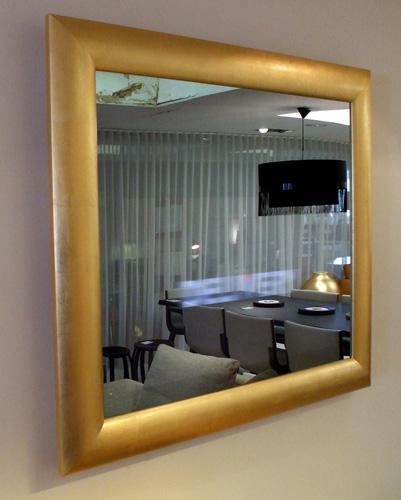 NEOD Home Modern Gold Mirror