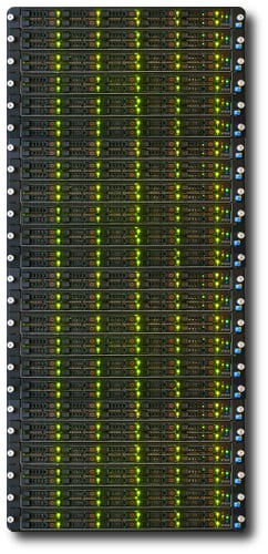 SolidFire rack of SF3010 nodes