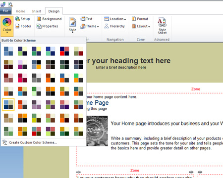 Office 365 Site Builder