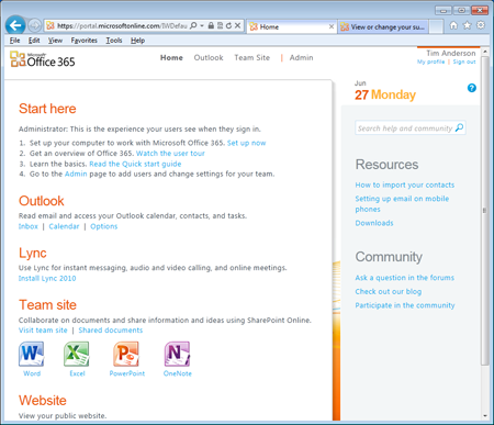 Office 365 Portal