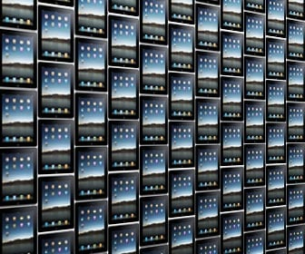 Great wall of iPads