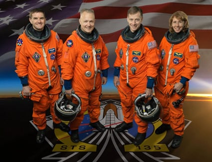 The STS-135 crew. Pic: NASA