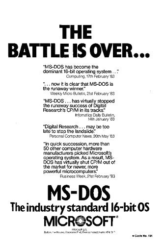MS-DOS Advert