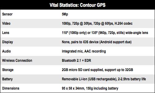 Contour GPS Bluetooth camera