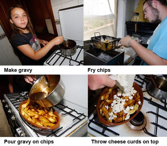 Photo guide to preparing poutine