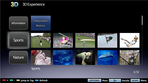 Sony 3D Experience