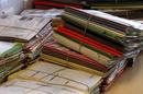NHS Files on a desk