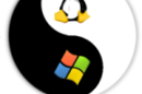 Colinux logo incorporating Tux penguin and Windows