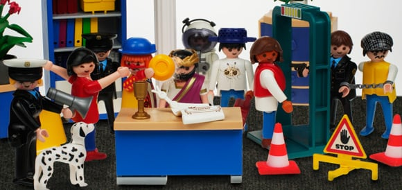 Our exclusive Playmobil reconstruction of the Murdoch hearing pandemonium