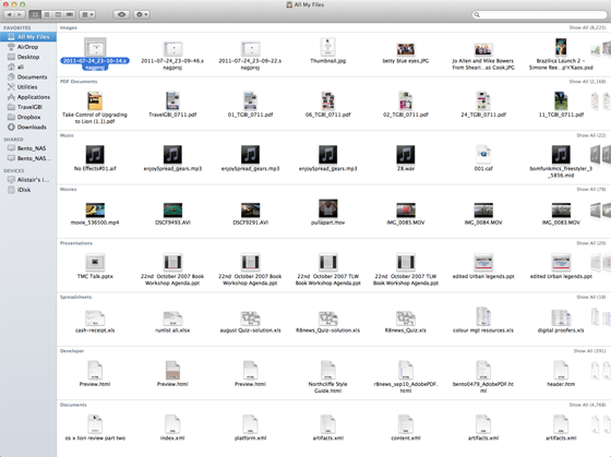 Apple Mac OS X 10.7 Lion All My Files