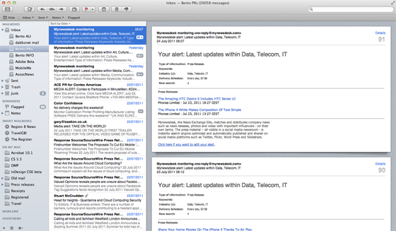 Apple Mac OS X 10.7 Lion Mail app
