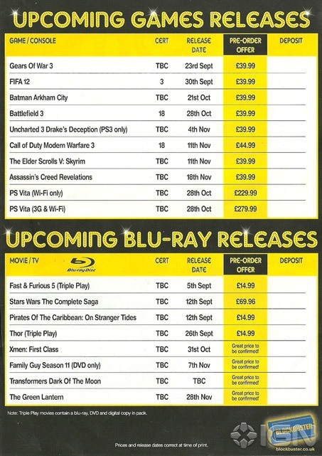 Blockbuster PS Vita release date exposed