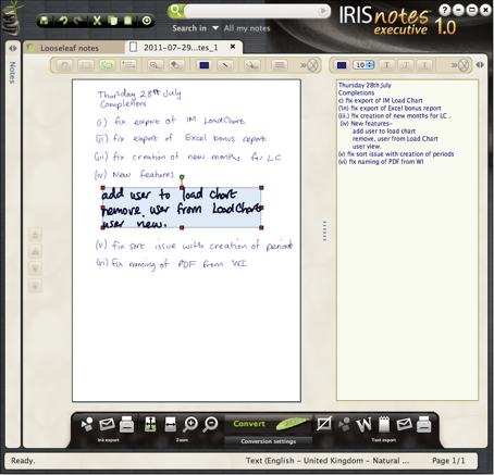 IRISnotes Executive 1.0
