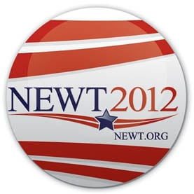Newt Gingrich 2012 presidential campaign button