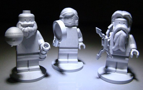 The three Lego figures set to travel with