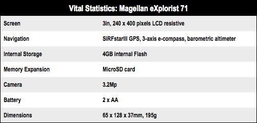 Magellan eXplorist 71