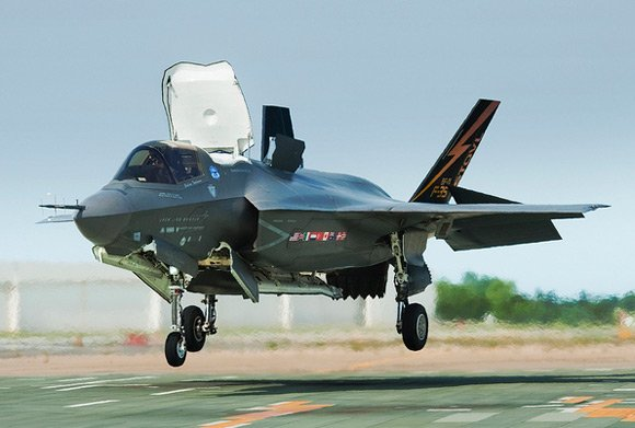 The F-35B during its recent live test. Pic: Lockheed Martin