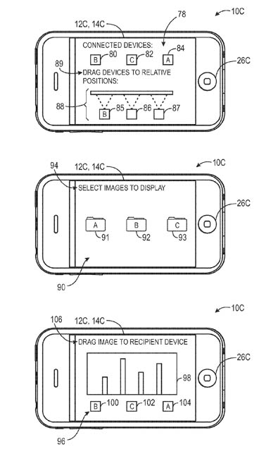 Apple shared-display patent illustration