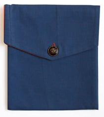 iPad case made from Bernie Madoff's trousers
