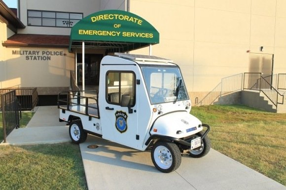 The solar powered patrol vehicle employed by the Fort Knox directorate of emergency