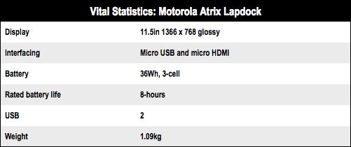 Motorola Atrix Lapdock