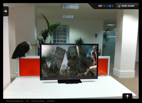 Sony augmented reality TV chooser in action
