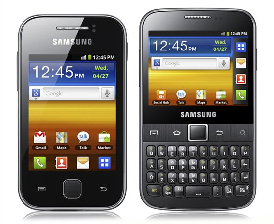Samsung Galaxy Y and Galaxy Y Pro