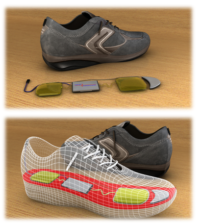 InStep NanoPower's gadget-powering shoe