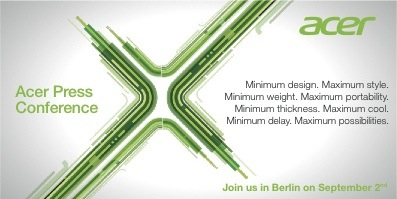 Acer's IFA 2011 invite