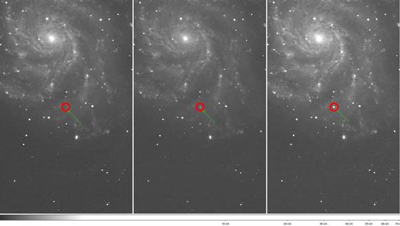 Type 1a supernova PTF 11kly expanding