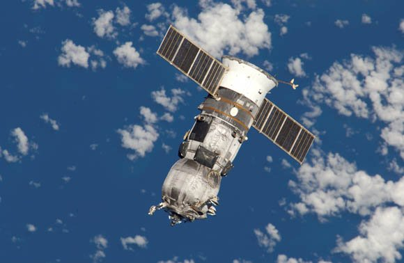 Russian 'Progress' cargo vessel as seen from the International Space Station