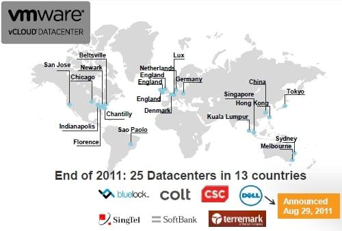 VMware vCloud Datacenter locations