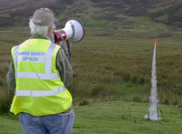 John Bonsor sees off a rocket on Fairlie Moor