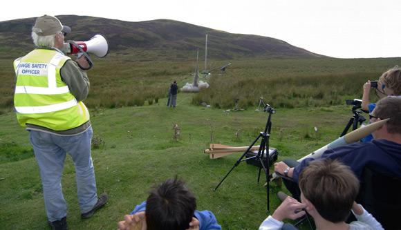 John Bonsor supervises another rocket launch